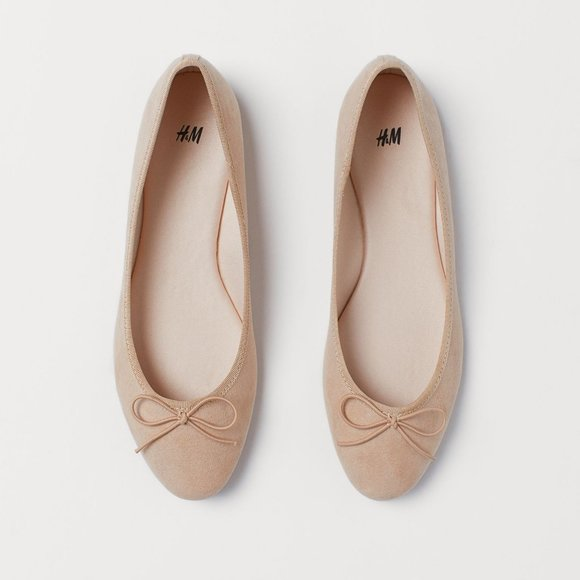 NWT Ballet Flats Nude 7M Grosgrain Trim